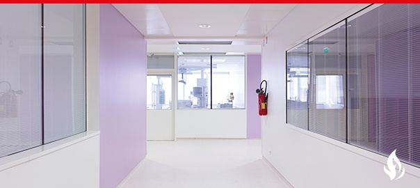 Pellini Integral Blinds corridor