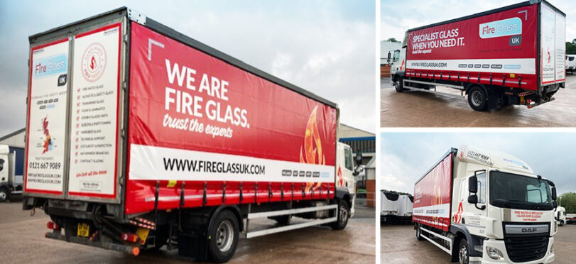 Fire Glass UK's new 18 tonne delivery truck.